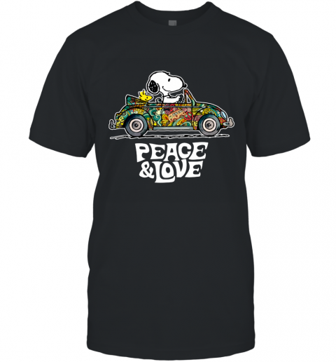 Snoopy Peace & Love Car Ugly T-Shirt