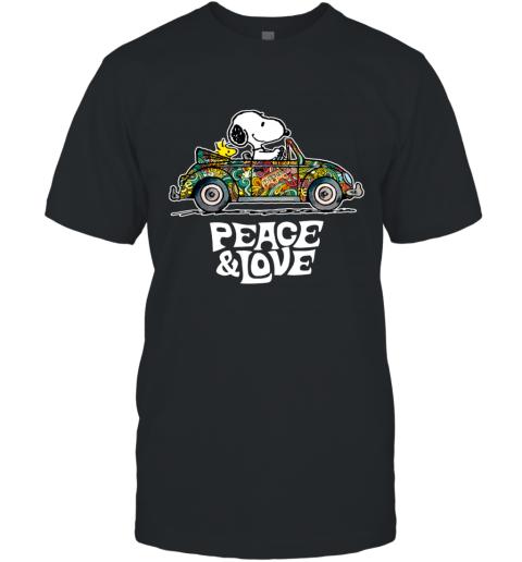 Snoopy Peace & Love Car Ugly T-Shirt