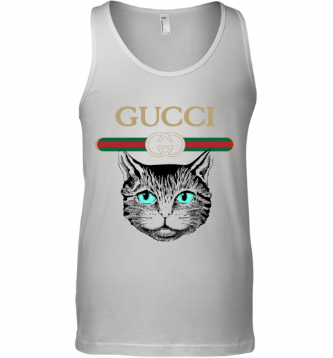 Gucci Logo Black Cat Secret Tank Top
