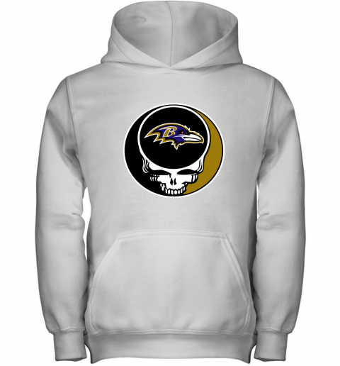 NFL Baltimore Ravens Grateful Dead Rock Band Football Sports Youth Hoodie