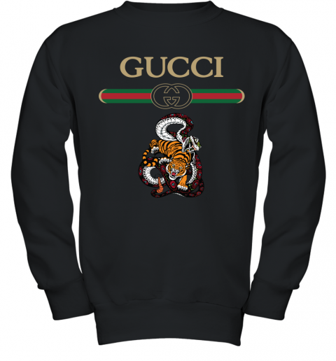 2020 Gucci Logo Fighting Snake Vs Tiger Youth Sweatshirt