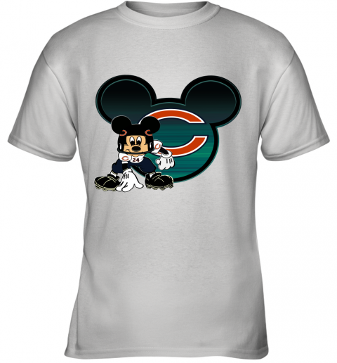NFL Chicago Bears Mickey Mouse Disney Football T Shirt Youth T-Shirt
