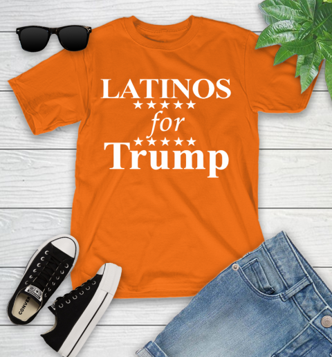 Latinos For Trump Youth T-Shirt 9