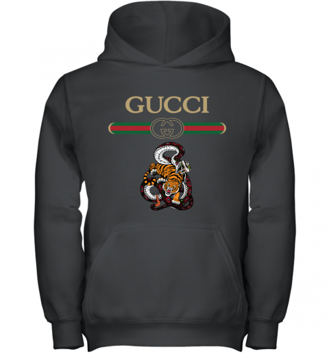 2020 Gucci Logo Fighting Snake Vs Tiger Youth Hoodie