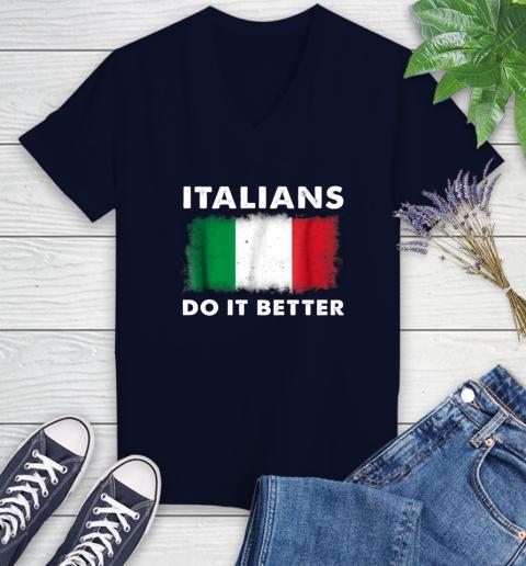 Italians Do It Better Women's V-Neck T-Shirt 2