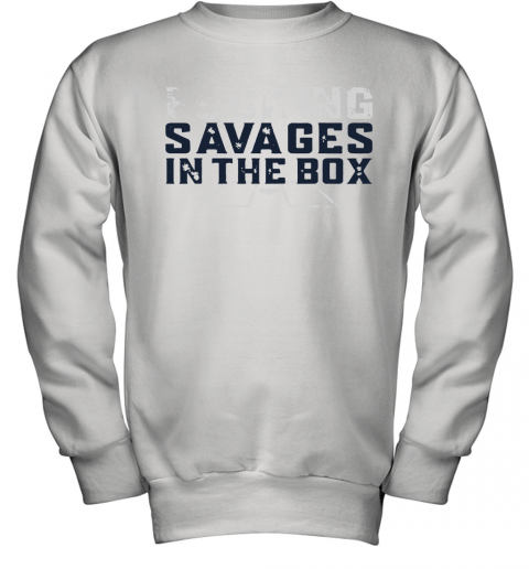innovative design 3b836 42235 Fucking Savages In The Box Yankees Youth Sweatshirt