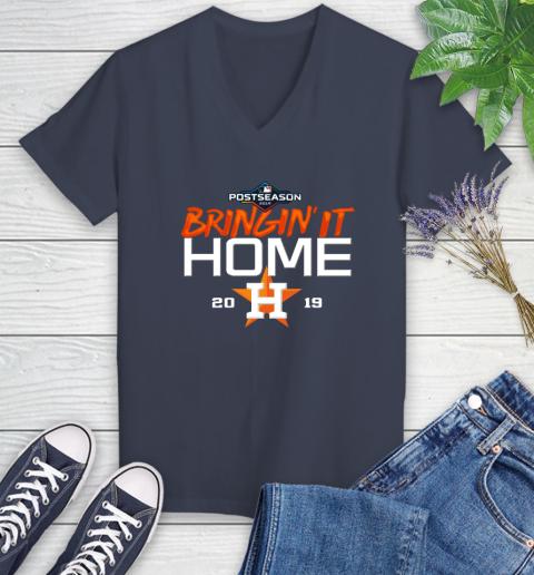 Bringing It Home Astros Women's V-Neck T-Shirt 12