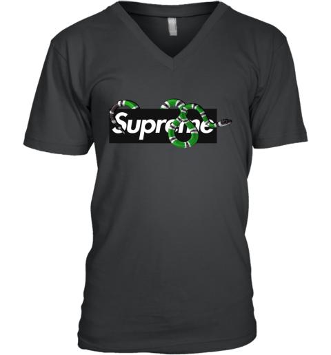 72144d9f Gucci King Snake x Supreme V-Neck T-Shirt