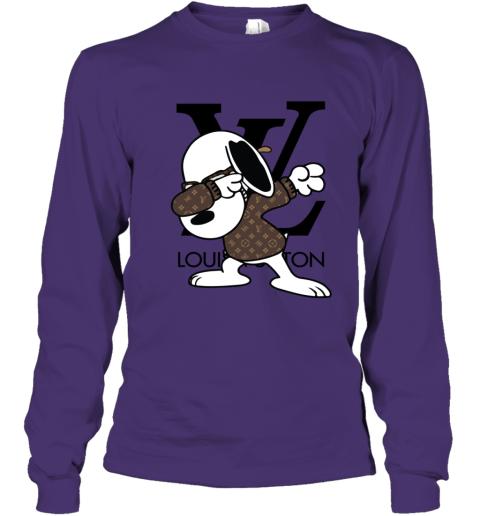 SNOOPY GUCCI x LOUIS VUITTON LOGO Youth Long Sleeve T-Shirt
