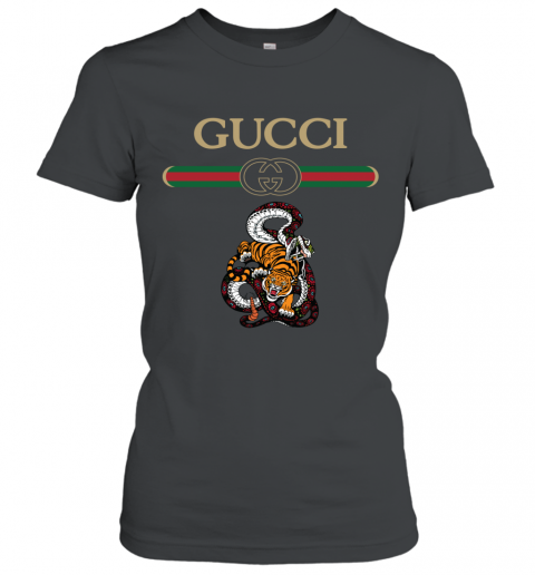 2020 Gucci Logo Fighting Snake Vs Tiger Women's T-Shirt