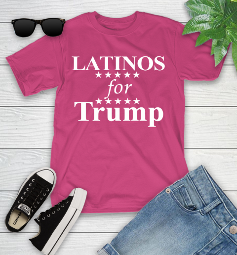 Latinos For Trump Youth T-Shirt 11