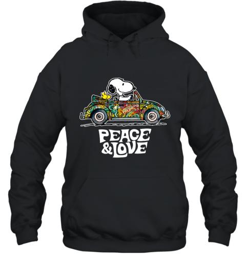 Snoopy Peace & Love Car Ugly Hoodie