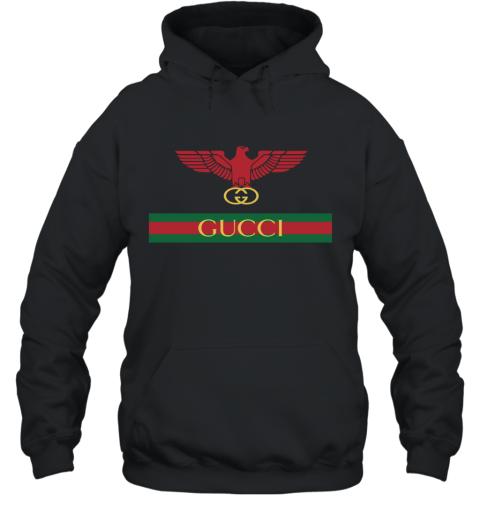 Gucci Menswear Logo Eagle Fire Hoodie