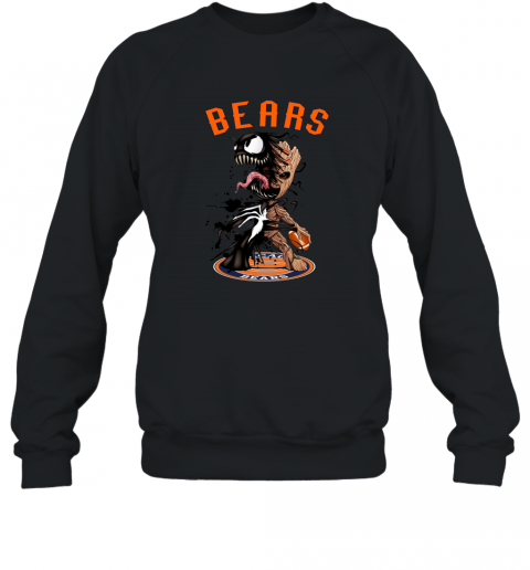 NFL Chicago Bears Football Venom Groot Guardians Of The Galaxy Sweatshirt