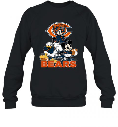 NFL Chicago Bears Mickey Mouse Donald Duck Goofy Football T Shirt Sweatshirt