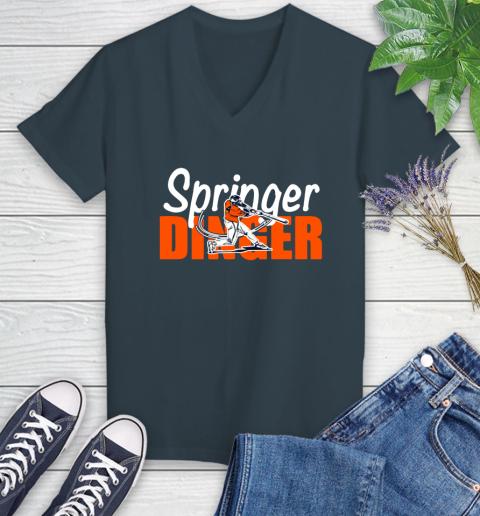 Houston Springer Dinger Fan Shirt Women's V-Neck T-Shirt 8