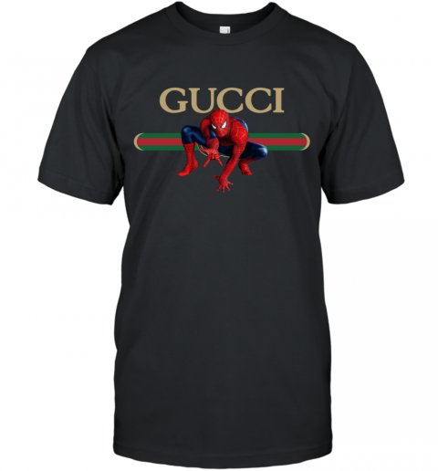 Gucci Logo Spiderman T-Shirt