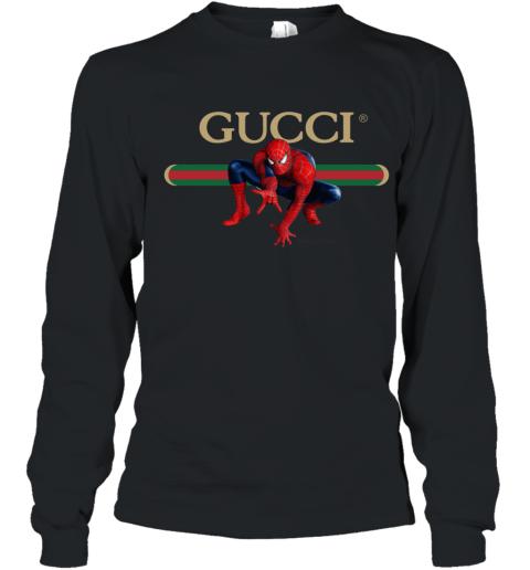 Gucci Logo Spiderman Youth Long Sleeve T-Shirt