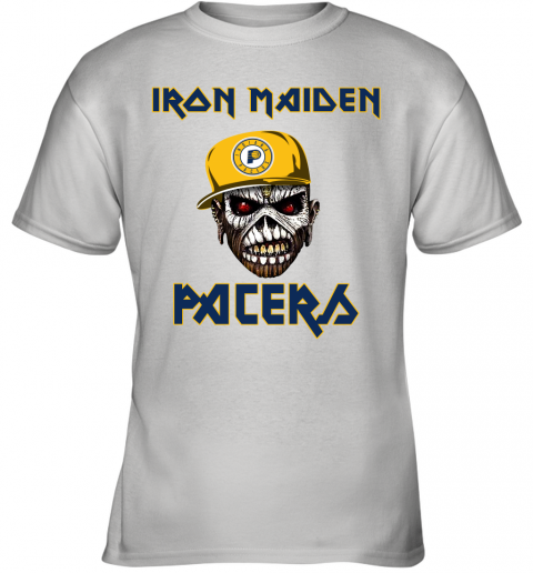 NBA Indiana Pacers Iron Maiden Rock Band Music Basketball Sports Youth T-Shirt