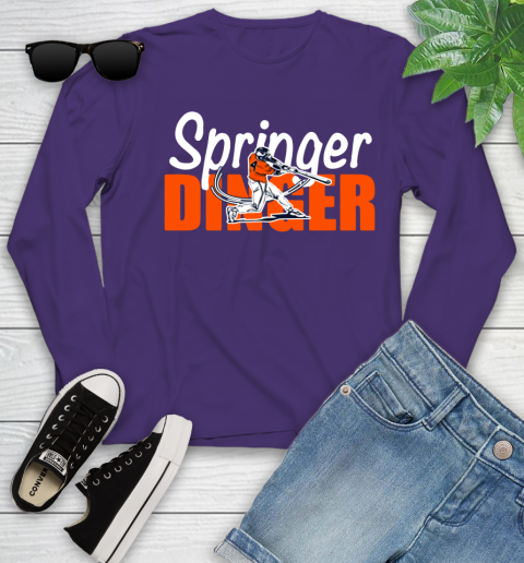 Houston Springer Dinger Fan Shirt Youth Long Sleeve 15