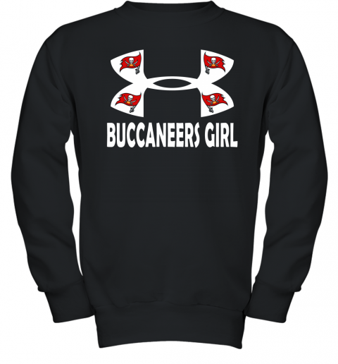 NFL Tampa Bay Buccaneers Girl Under Armour Football Sports Youth Sweatshirt