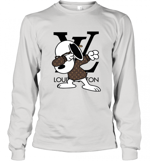 SNOOPY GUCCI x LOUIS VUITTON LOGO Long Sleeve T-Shirt