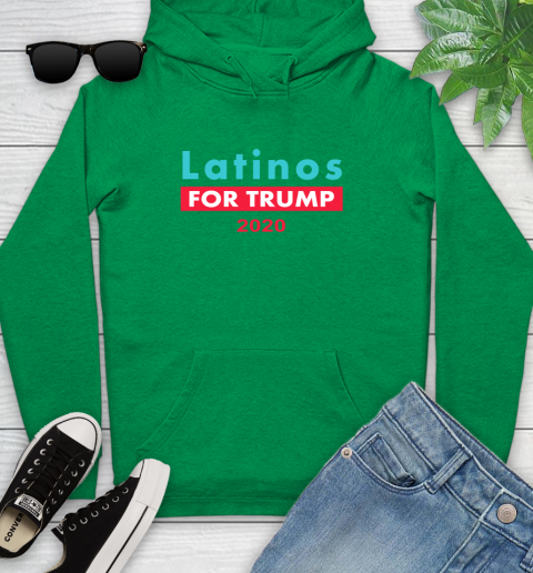 Latinos Trump 2020 Youth Hoodie 7