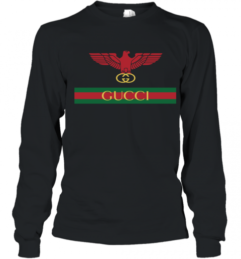 Gucci Menswear Logo Eagle Fire Youth Long Sleeve T-Shirt