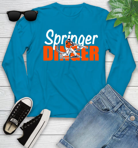 Houston Springer Dinger Fan Shirt Youth Long Sleeve 8