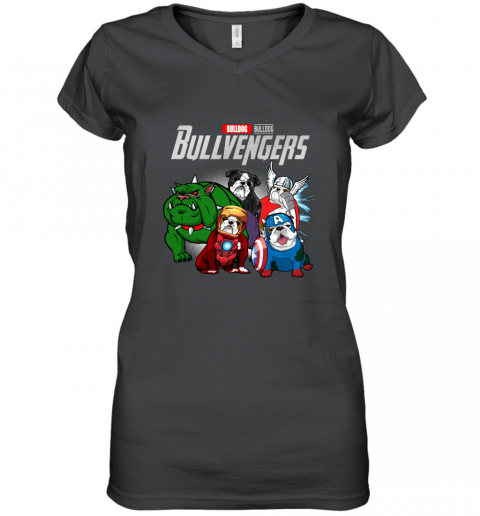 Marvel Avengers Endgame Bulldog Bull Avengers shirt Women's V-Neck T-Shirt