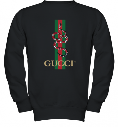 Gucci Logo Snake Polo Youth Sweatshirt