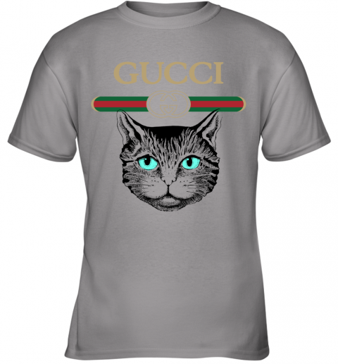 Gucci Logo Black Cat Secret Youth T-Shirt