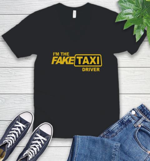 I am the Fake taxi driver V-Neck T-Shirt 2