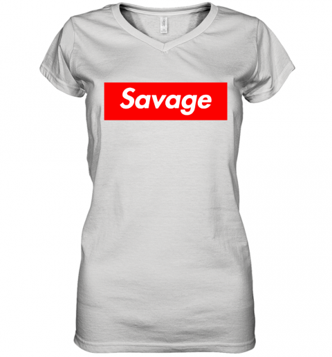 Savage in the box Women's V-Neck T-Shirt