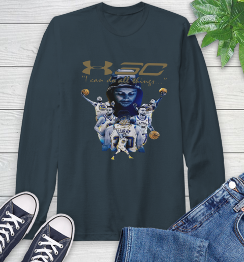 Stephen Curry I Can Do All Things Signature Long Sleeve T-Shirt 9