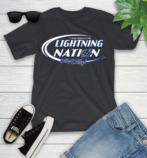 Nhl A True Friend Of The Tampa Bay Lightning Dilly Dilly Hockey Sports Youth T Shirt
