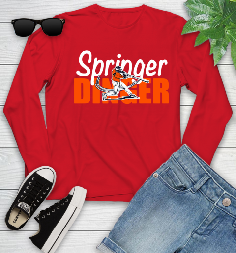 Houston Springer Dinger Fan Shirt Youth Long Sleeve 22