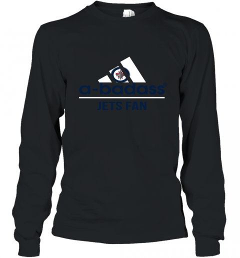 NHL A Badass Winnipeg Jets Fan Adidas Hockey Sports Long Sleeve T-Shirt