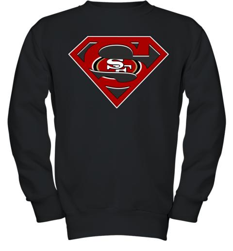 Nfl San Francisco 49ers Logo Superman Youth Sweatshirt Violette Leonie