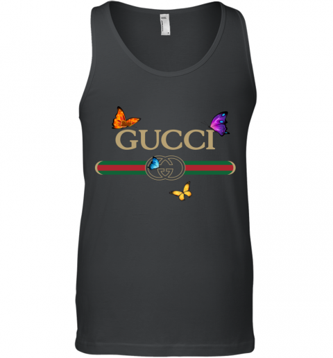 Gucci Logo Butterfly Printed Tank Top
