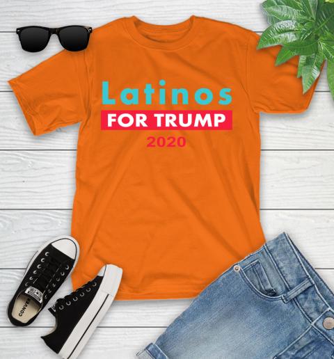 Latinos Trump 2020 Youth T-Shirt 7