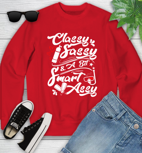 Scuba Diving Classy Sassy Youth Sweatshirt 8