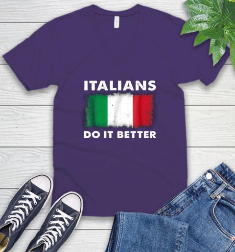Italians Do It Better V-Neck T-Shirt 9