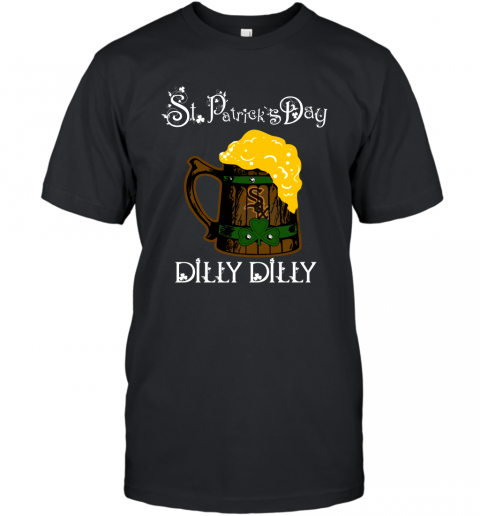 MLB Chicago White Sox St Patrick's Day Dilly Dilly Beer Baseball Sports T-Shirt