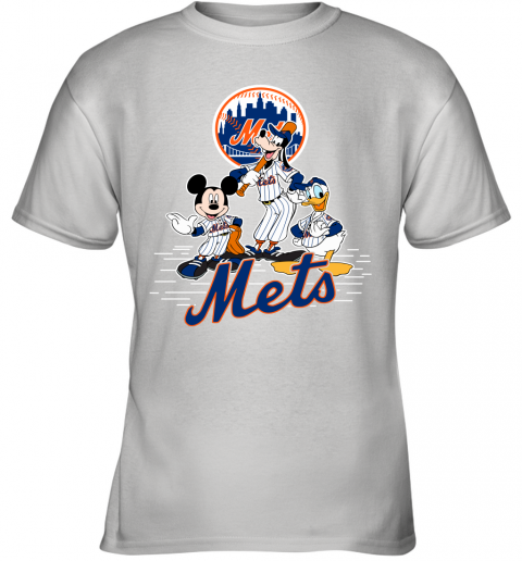 MLB New York Mets Mickey Mouse Donald Duck Goofy Baseball T Shirt Youth T-Shirt