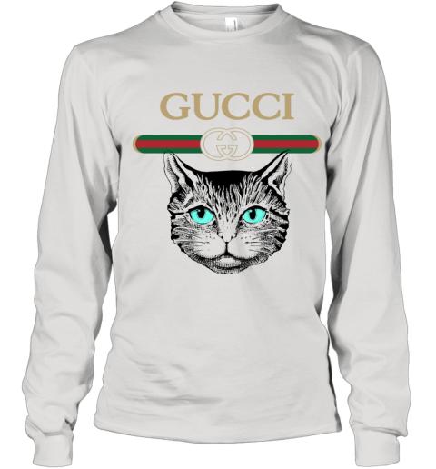 Gucci Logo Black Cat Secret Youth Long Sleeve T-Shirt
