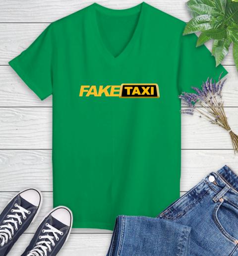 Fake taxi Women's V-Neck T-Shirt 5