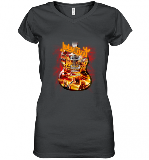 Judas Priest Firepower Electric guitar Women's V-Neck T-Shirt
