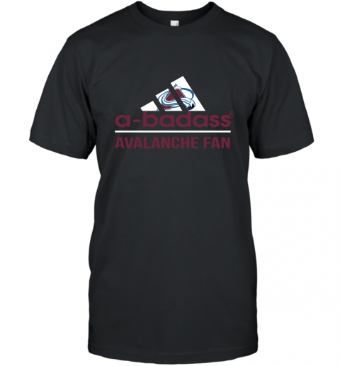 NHL A Badass Colorado Avalanche Fan Adidas Hockey Sports T-Shirt