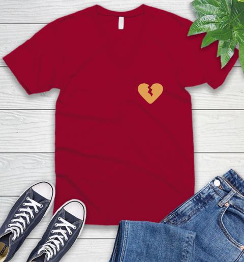 Marcus Lemonis broken heart V-Neck T-Shirt 8